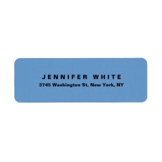 Étiquette Minimaliste moderne élégant simple de gris bleu