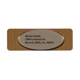 Étiquette Monogramme en bois strié de texture