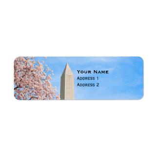 Étiquette Monument de Washington