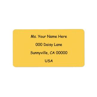 Étiquette Motif de fleurs jaune de marguerite 8