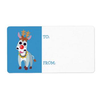 Étiquette Noël Shane l'âne