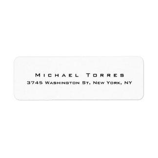 Étiquette Noir créatif élégant simple moderne et blanc