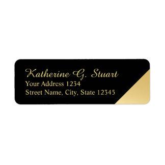 Étiquette Noir et élégant moderne d'or