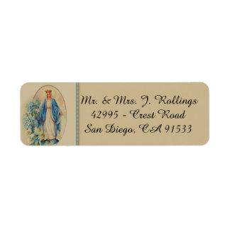 Étiquette Notre Madame de Vierge Marie béni par grâce