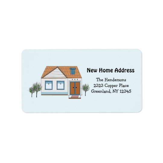 Étiquette Notre nouvelle adresse à la maison élégante