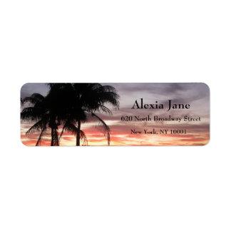 Étiquette Palmiers et coucher du soleil