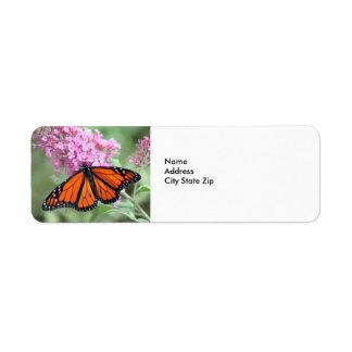 Étiquette Papillon de monarque