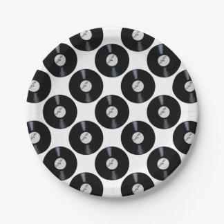 Étiquette par radio de disque de mélange assiettes en papier