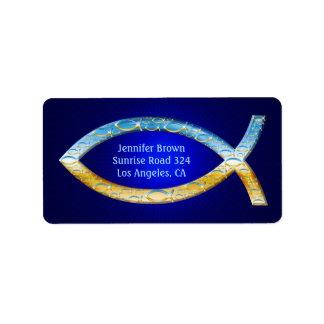 Étiquette Part chrétienne élégante des poissons   votre foi