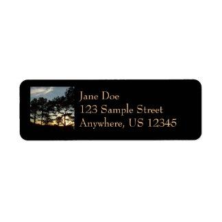 Étiquette Paysage du coucher du soleil II la Californie de