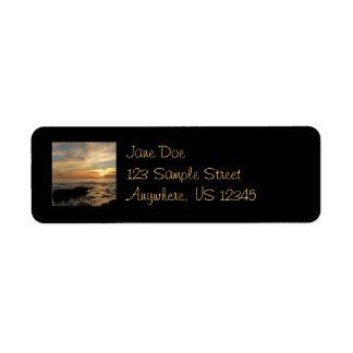 Étiquette Paysage marin du coucher du soleil I la Californie