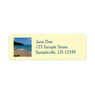 Étiquette Paysage tropical de vacances de plage de
