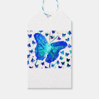 Étiquette peinte à la main de cadeau de papillon