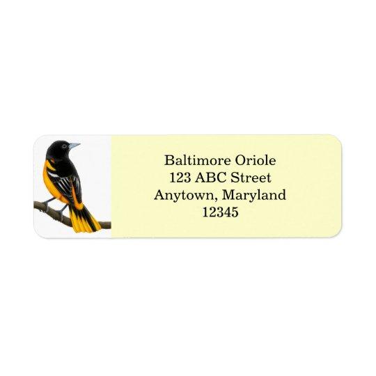 Étiquette personnalisable d'Avery d'oiseau de