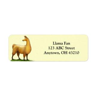 Étiquette personnalisable de lama vigilant