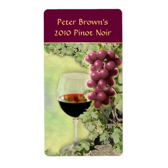 Étiquette personnalisable de vin
