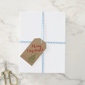 Étiquette personnalisée de cadeau de Noël avec