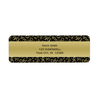 Étiquette Personnalisez :  quatre-vingt-dixième Adresse de