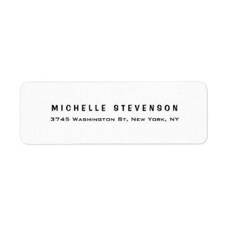 Étiquette Personnel minimaliste blanc noir moderne élégant