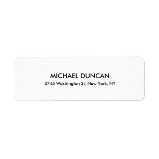 Étiquette Personnel professionnel noir et blanc moderne