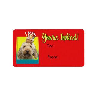 Étiquette Petit gâteau d'invitation - GoldenDoodle