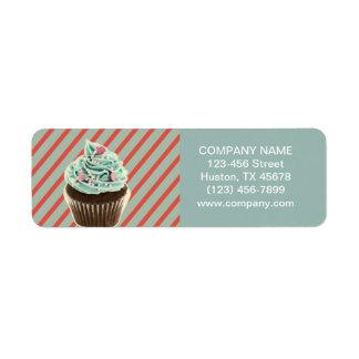 Étiquette petit gâteau girly vintage de boulangerie de