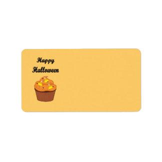 Étiquette Petit gâteau heureux de Halloween