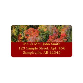 Étiquette Photographie colorée de nature d'automne de
