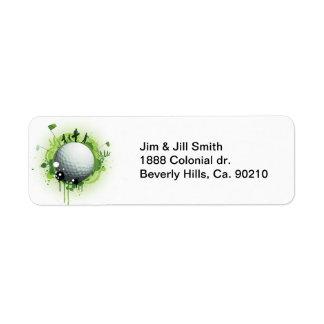 Étiquette Piquons pour le golf