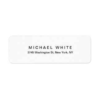 Étiquette Plaine minimaliste moderne unique blanche noire