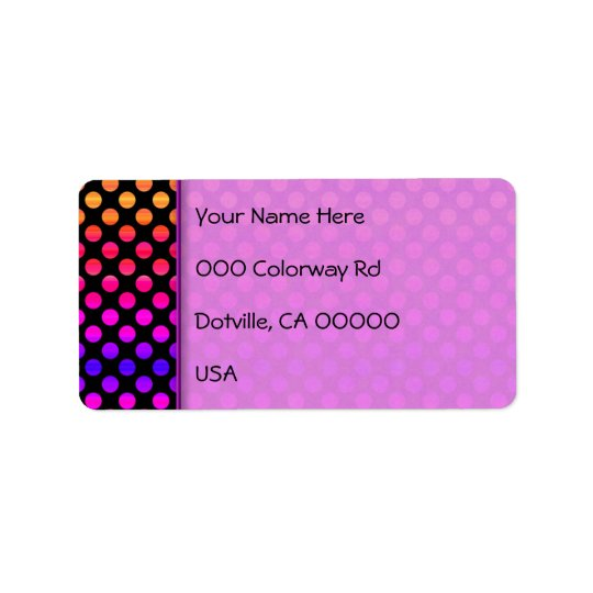 Étiquette Points multicolores