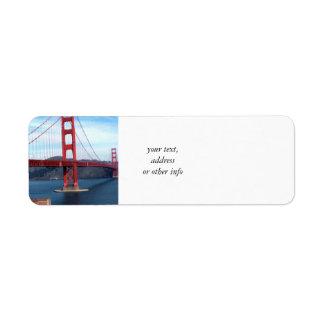 Étiquette Pont en Baie de San Franciso
