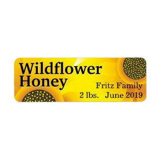 Étiquette Pot d'or de miel de fleur sauvage