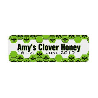 Étiquette Pot personnalisé de miel