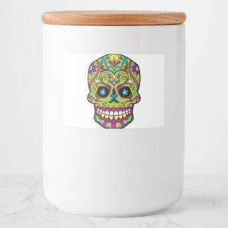 Étiquette Pour Bocaux Jour du crâne vert mort
