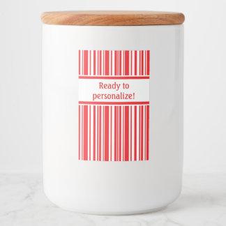 Étiquette Pour Bocaux Rayures de sucre de canne