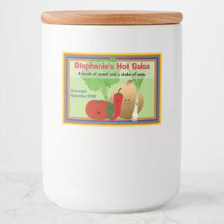 Étiquette Pour Bocaux Salsa heureux personnalisé