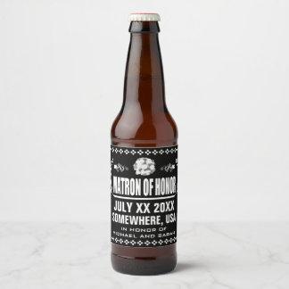 Étiquette Pour Bouteilles De Bière Dame de honneur faite sur commande