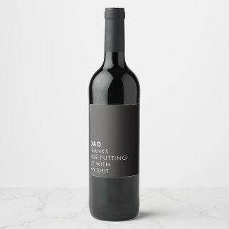 Étiquette Pour Bouteilles De Vin Acceptation de moi