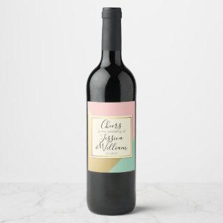 Étiquette Pour Bouteilles De Vin Acclamations à la conception de mariage