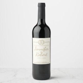 Étiquette Pour Bouteilles De Vin Arbre celtique d'étiquette de vin de chardon d'or