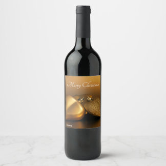 Étiquette Pour Bouteilles De Vin Bouteille d'étiquette avec les coeurs d'or pour