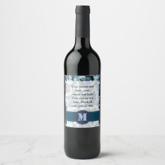 Étiquette Pour Bouteilles De Vin Camouflage de marine