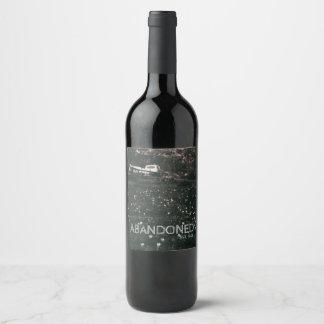 Étiquette Pour Bouteilles De Vin Gisement blanc vintage abandonné de camion des