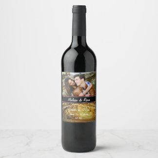 Étiquette Pour Bouteilles De Vin Jeunes mariés, mariage d'automne, coutume,