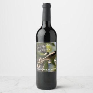 Étiquette Pour Bouteilles De Vin Le meilleur ami a personnalisé l'étiquette de vin