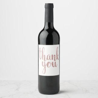 Étiquette Pour Bouteilles De Vin L'or rose vous remercient de wine étiquette,