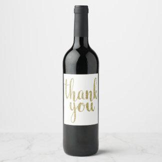 Étiquette Pour Bouteilles De Vin L'or vous remercient de wine des étiquettes,
