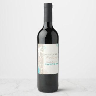 Étiquette Pour Bouteilles De Vin Mariage de fête de destination d'étoiles de mer de