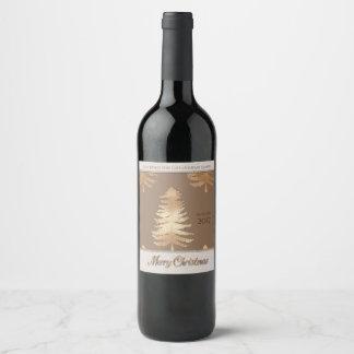 Étiquette Pour Bouteilles De Vin Personnalisez l'étiquette de vin d'arbre de Noël